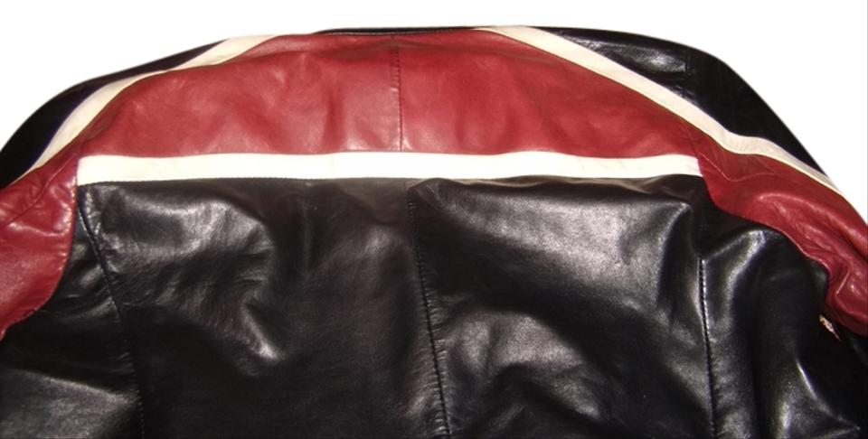 prada bags for sale - Prada Art. 148216 Black, Red, And White Leather Jacket - Tradesy