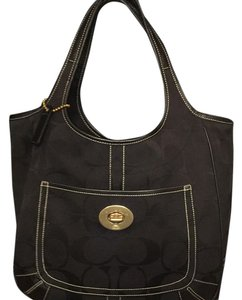 Coach Tote in Black With Gold Hardware