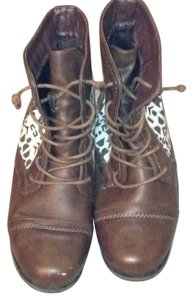 Charlotte Russe Brown and white Boots