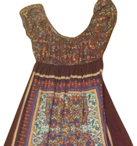 Fleurish short dress Brown on Tradesy