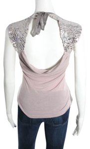Development Sequin Embellished Bow Tie Backless Open Back Party Cocktail Night Out Date Night Top Lilac