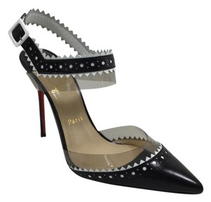 Christian Louboutin Black And White Chouette 100mm Pumps