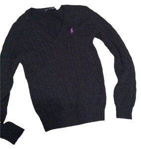Ralph Lauren V-neck Cable-knit Cotton Sporty Sweater