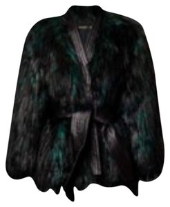 Balmain x H&M Faux Fur Green Fur Coat