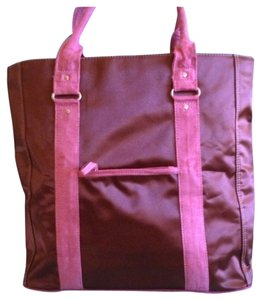 Tote in Brown & Pink