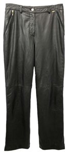 St. John Sport Marie Gray Leather Pants