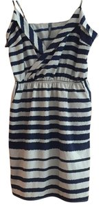 Striped Navy dress short dress Navy and Cream Striped on Tradesy