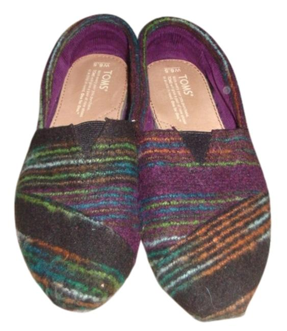 Item - Multi-color Woven Wool 6.5w Flats Size US 6.5 Wide (C, D)