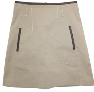 Zara Cotton Skirt BROWN