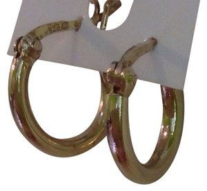 Unknown 14 carrot gold plated 925 sterling silver small hoops