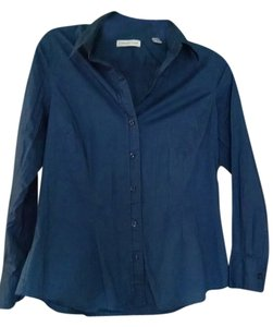 Coldwater Creek Button Down Shirt Medium Blue