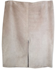 Gucci Suede Leather Pencil Skirt PINK