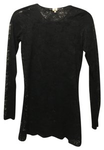 Wilfred Aritzia Lace Tee Top Black