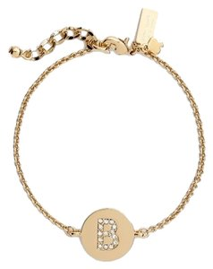 Kate Spade Brand New with tags Kate Spade New York 'North Court' pave initial 'B' charm bracelet Retail $58