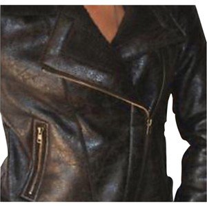 Romeo & Juliet Couture Brown Leather Jacket