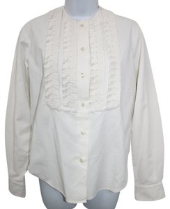 Alberta Ferretti Cotton Shirt Blouse Button Down Shirt WHITE