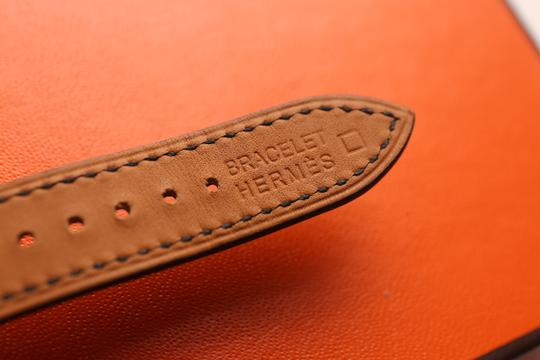Hermès Hermes H Hour (PM) Diamond Watch with Black Alligator leather bands