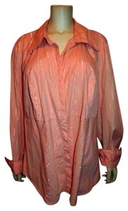 Lane Bryant Button Down Button Down Shirt PEACH SILVER