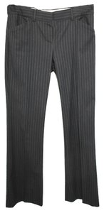 Elie Tahari Theory Stripes Stretchy Wool Dress Straight Pants BLACK