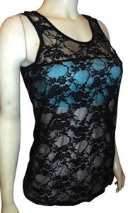 Forever 21 Xl Sheer Summersale Size Top BLACK TEAL