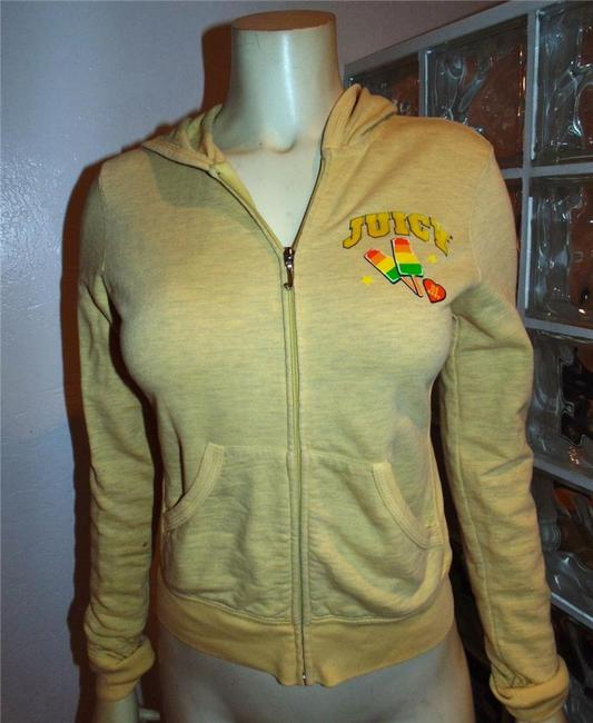 Juicy Couture Sweater Size Small YELLOW GREEN PINK Jacket Image 2