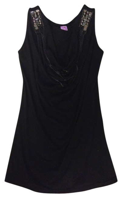 Other Blouse Necklace Detailed Flowy Top Black