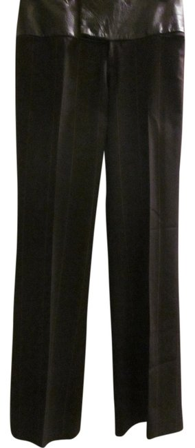 Item - Chocolate Brown Wool with Leather Band Pants Size 6 (S, 28)