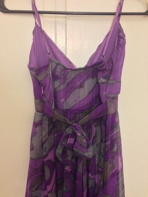 Other short dress Purple/Gray Cocktail Flowy Chiffon Short on Tradesy