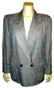 Kasper ASL Petite Vintage Dress Jacket Size 10 Button Front Nice GRAY PLAID Blazer