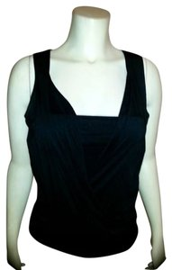 White House | Black Market Size X-small Sleeveless Stretchy Layered Cute Spring Summer Top BLACK