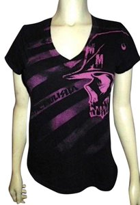 Metal Mulisha Size Medium T Shirt BLACK PINK