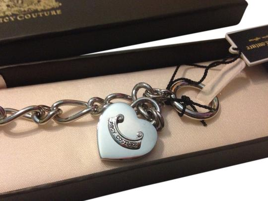 Juicy Couture New in box Juicy couture 2 sides bracelet heart silver authentic