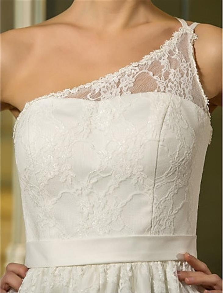Light In The Box A Line One Shoulder Knee Length Lace And
