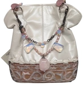 Baby Bella Maya White , Pink Clutch