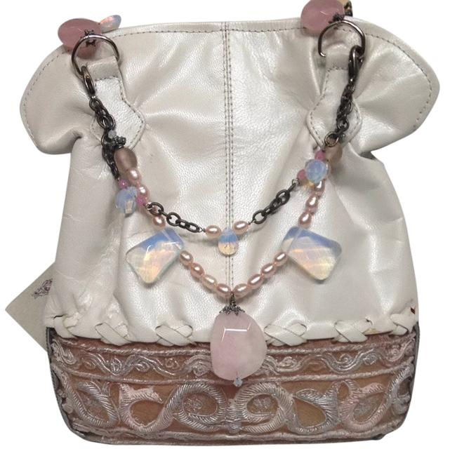 Item - White Pink Leather Clutch
