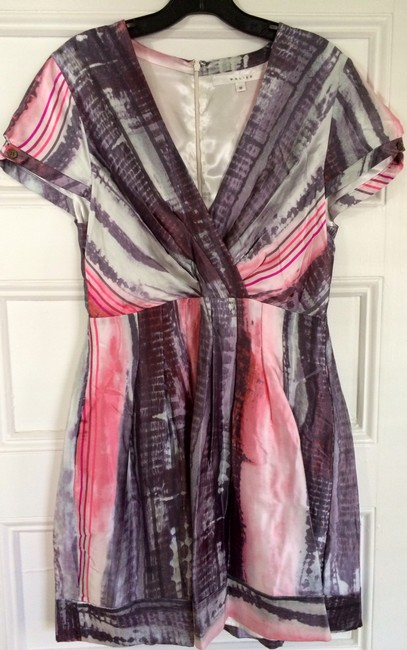 Other Silk Graphic Fit And Flare Dress