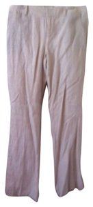 Banana Republic Wide Leg Pants Cream/Tan Striped
