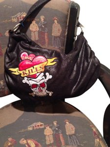 CONCEPT ONE LOVE KILLS SKULL/BONES BAG Satchel in BLACK/MULTICOLORED ACCENT