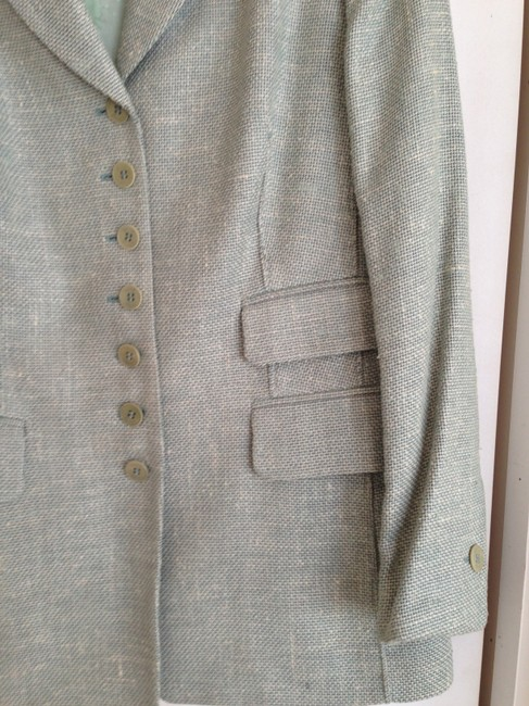 Rena Lange Designer Cotton Celery green Jacket