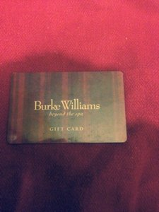 Burgundy Burke Williams Gift Card