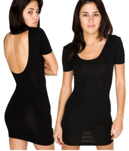 American Apparel Scoop Back Bodycon Cotton Dress