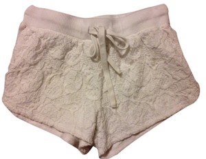 Aropostale Womens Small Lacey Mini/Short Shorts Cream