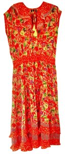 Diane Freis Ltd. Ruffle Tassels Bright Dress