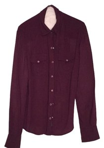 True Religion Button Down Shirt Dark purple