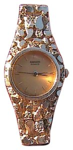 Seiko Seiko 14k Yellow Gold Nugget Watch Bracelet