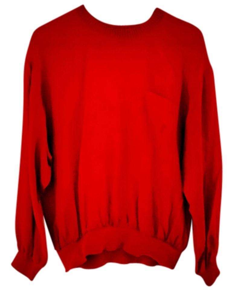 bd72ed6d989cc Notations Red Blouse Size 6 (S) - Tradesy