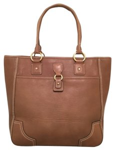 Antonio Melani Leather New Nwt Satchel Tote in Taupe Brown