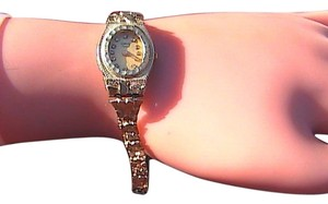 Geneve Classic Geneve Classic & Diamond 10k Yellow Gold Nugget Wrist Watch