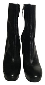 Louis Vuitton Leather Ankle Black Boots
