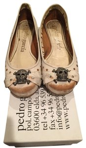 Pedro Garcia Skull Leather Flat Crystal Bone Flats